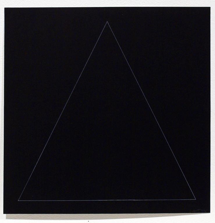 Sol LeWitt - Six Geometric Figures - Triangle 1