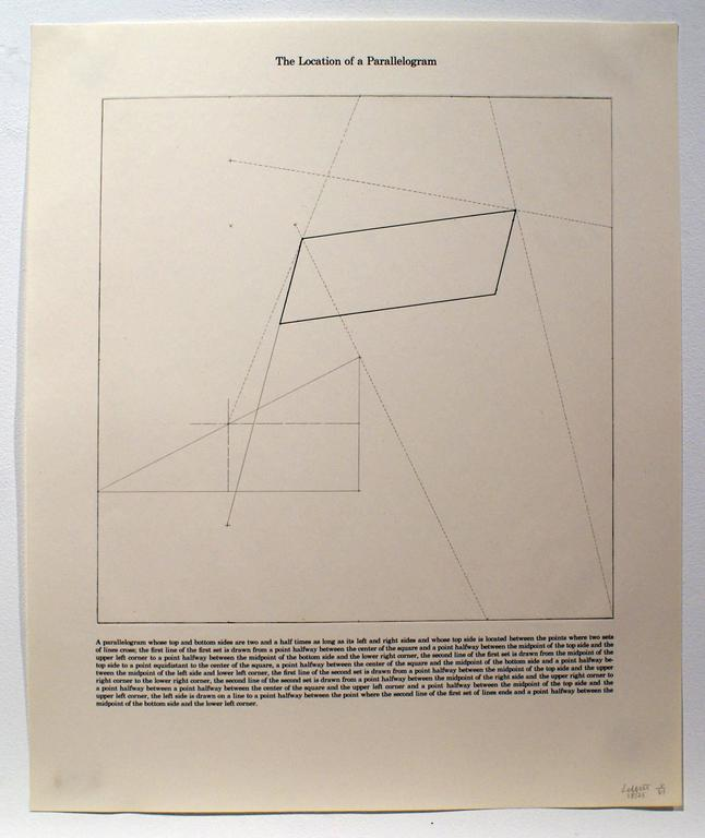 Sol LeWitt Abstract Print - The Location of a Parallelogram