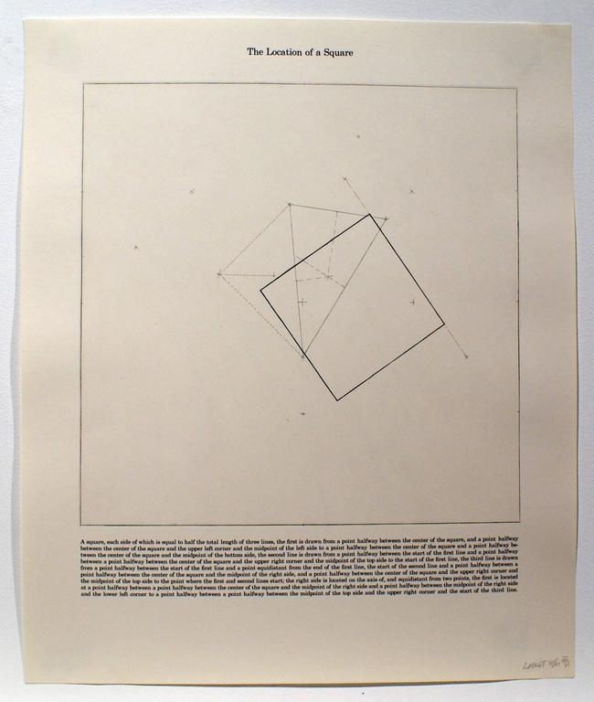 Sol LeWitt Abstract Print - The Location of a Square