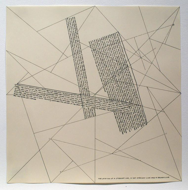 Sol LeWitt Abstract Print - The Location of Lines. The Location of a Straight Line. A not Straight Line and