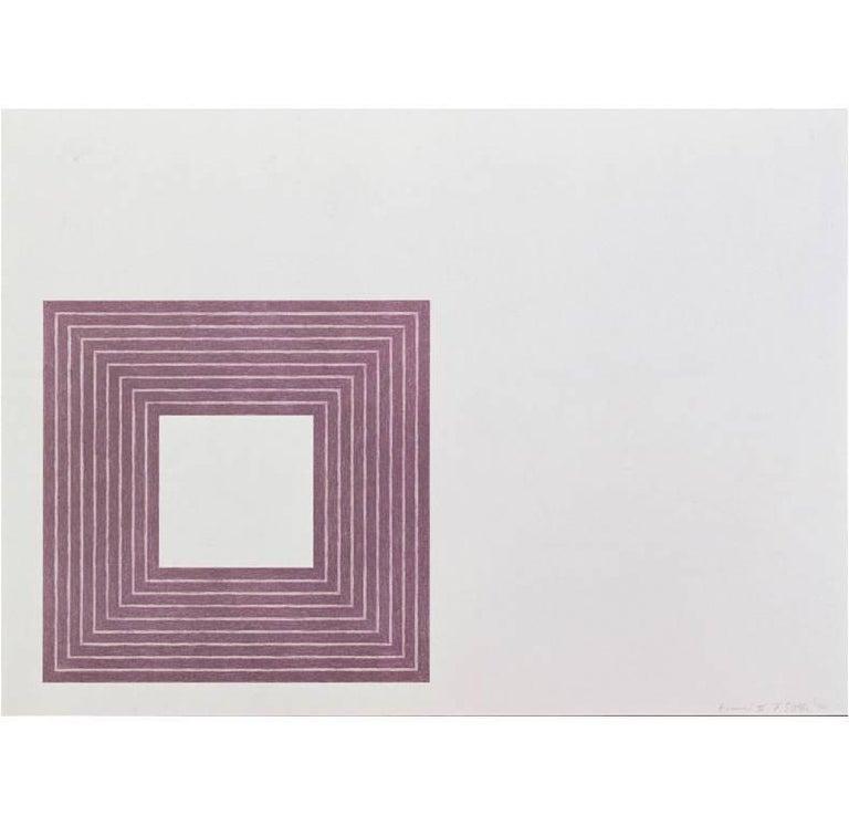 Frank Stella Print - Hollis Frampton