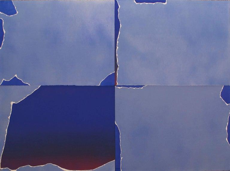 Joe Goode Abstract Print - Four Part Torn Cloud