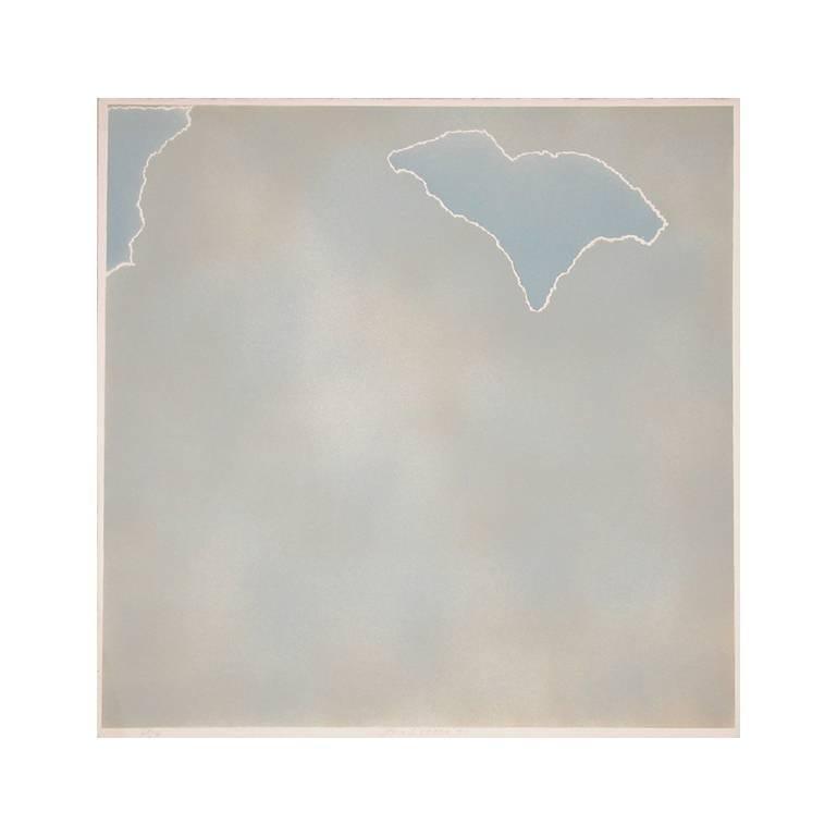 Untitled (Blue paper clouds)
