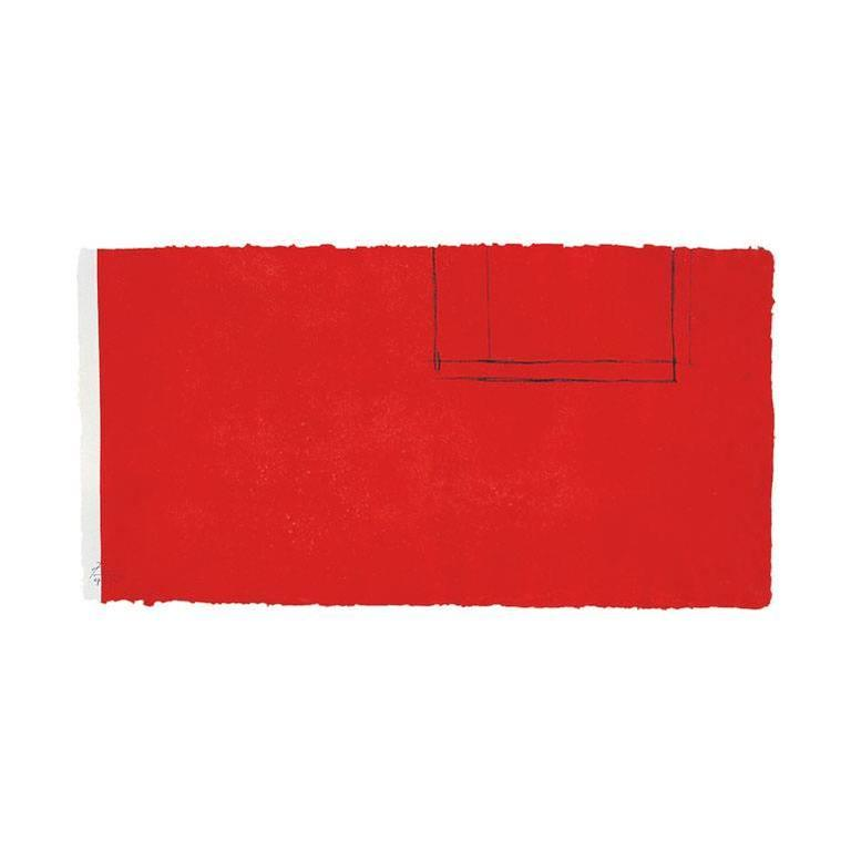 Red Open with White Line