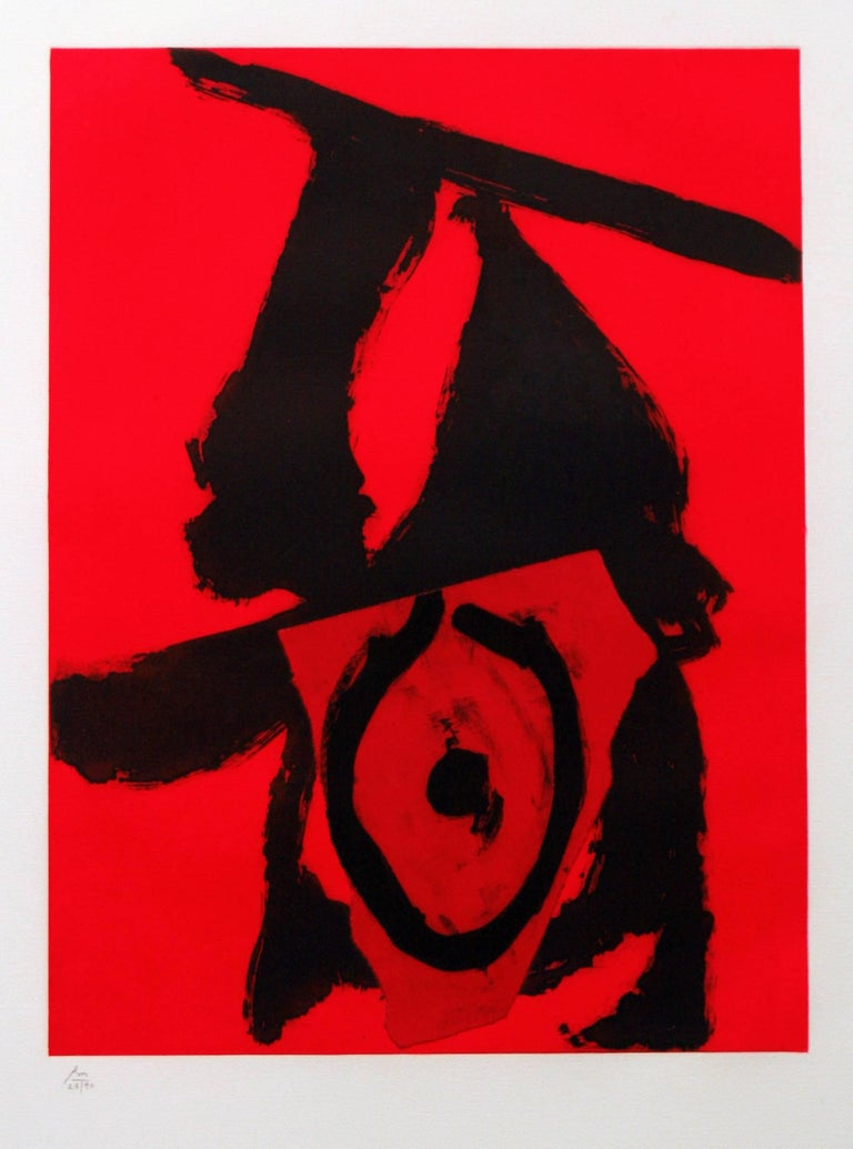 Robert Motherwell Abstract Print - The Red Queen