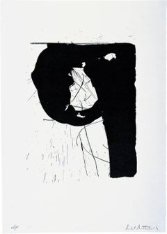 Poet II - Lithograph, Abstract Print, 20th Century by Robert Motherwell