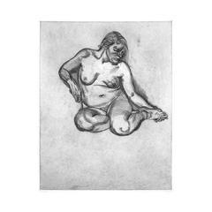 Girl Holding her Foot
