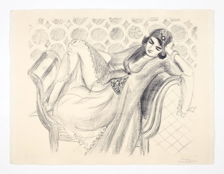 Henri Matisse - Repos sur la banquette 1