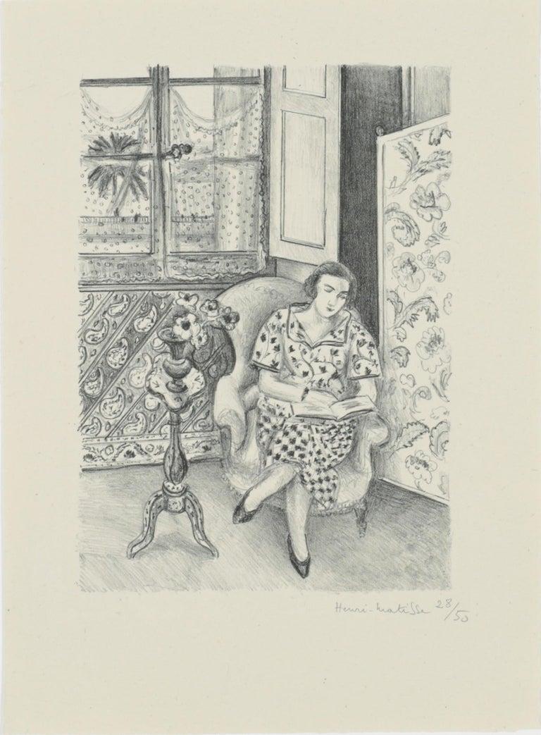 Henri Matisse Portrait Print - Intérieur, la lecture