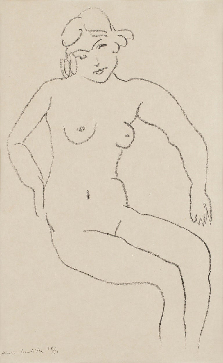 Henri Matisse Nude Print - Nu assis, chevelure claire