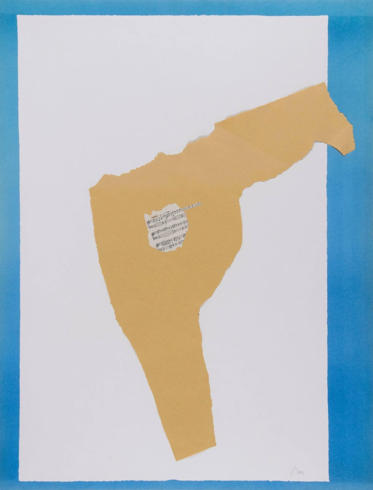 Dedication–Lincoln Center (B.App.23) - Mixed Media Art by Robert Motherwell