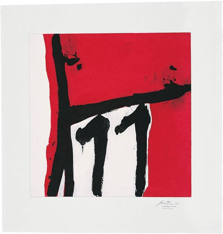 Robert Motherwell Abstract Print - Mexican Night II