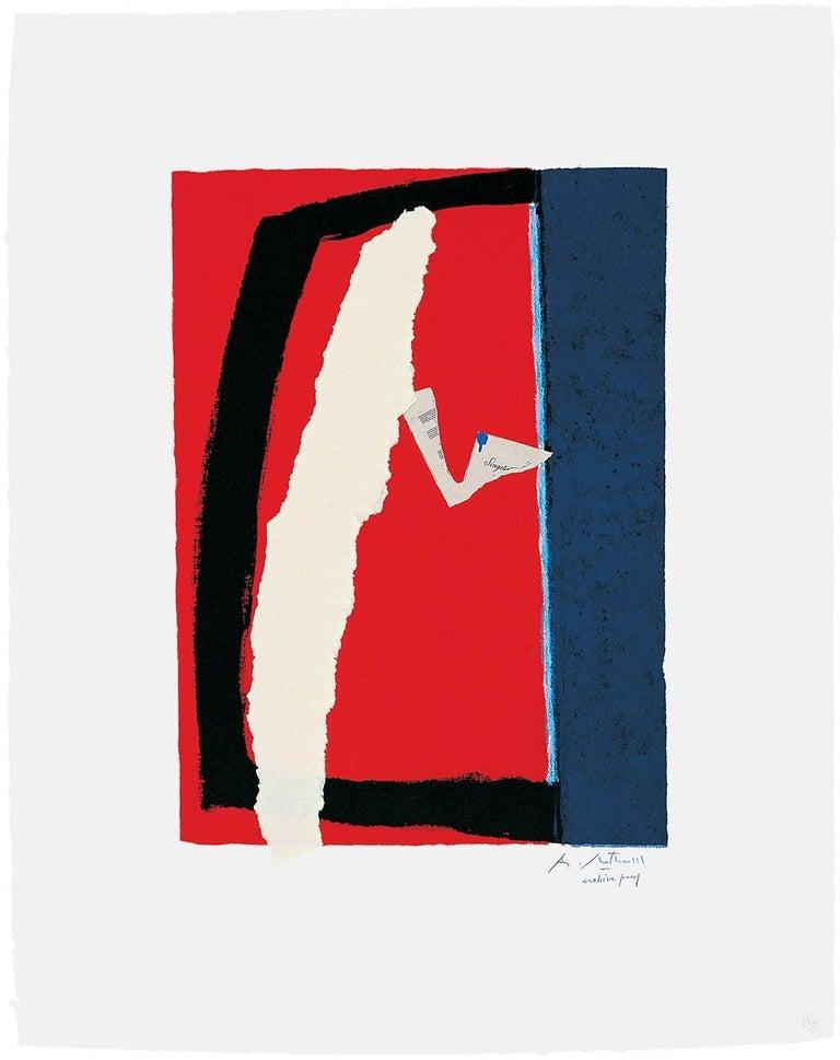 Robert Motherwell Print - Game of Chance