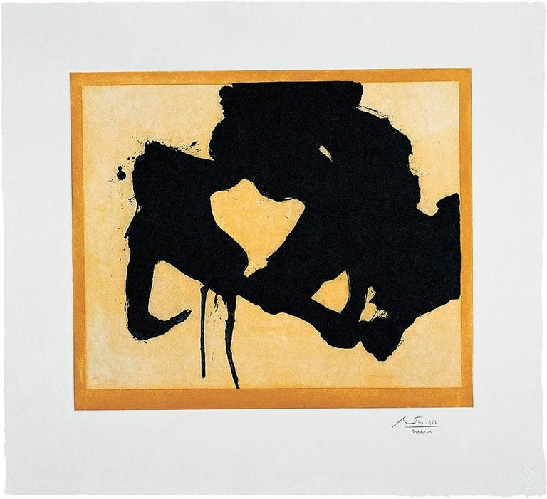 Robert Motherwell Abstract Print - At the Edge