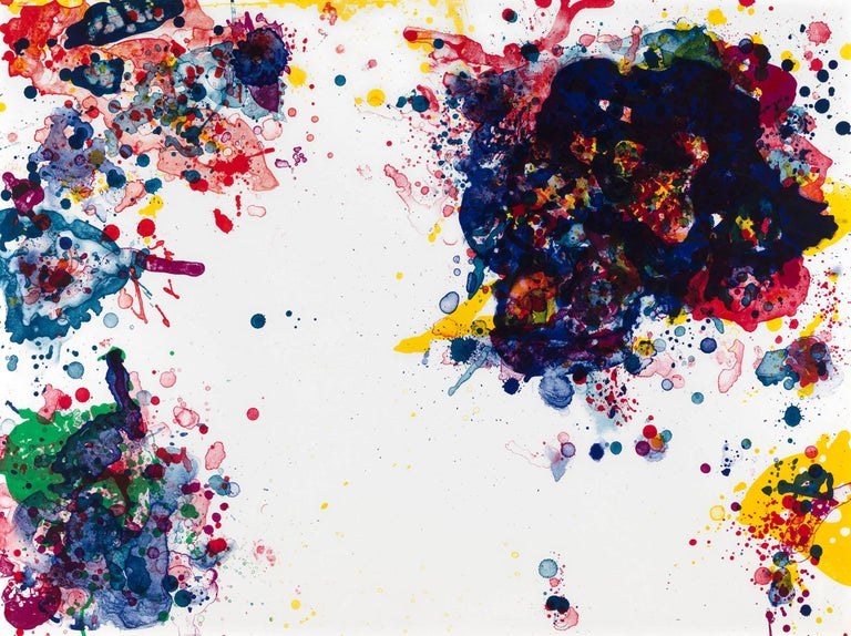 Sam Francis Abstract Print - Speck