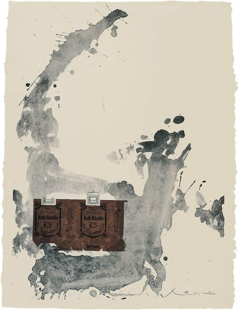 Robert Motherwell Abstract Print - Tobacco Roth-Handle