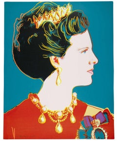Queen Margrethe II 343 by Andy Warhol
