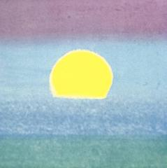Sunset (Yellow, Blue, Green) by Andy Warhol