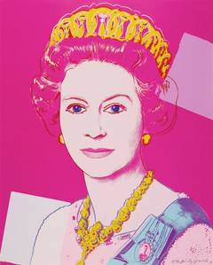 Andy Warhol - Queen Elizabeth II Pink by Andy Warhol