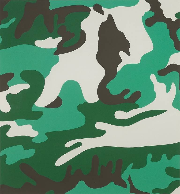 andy warhol camouflage green print for sale at 1stdibs. Black Bedroom Furniture Sets. Home Design Ideas