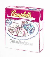 Andy Warhol - Campbell's Soup Box: Onion Mushroom by Andy Warhol