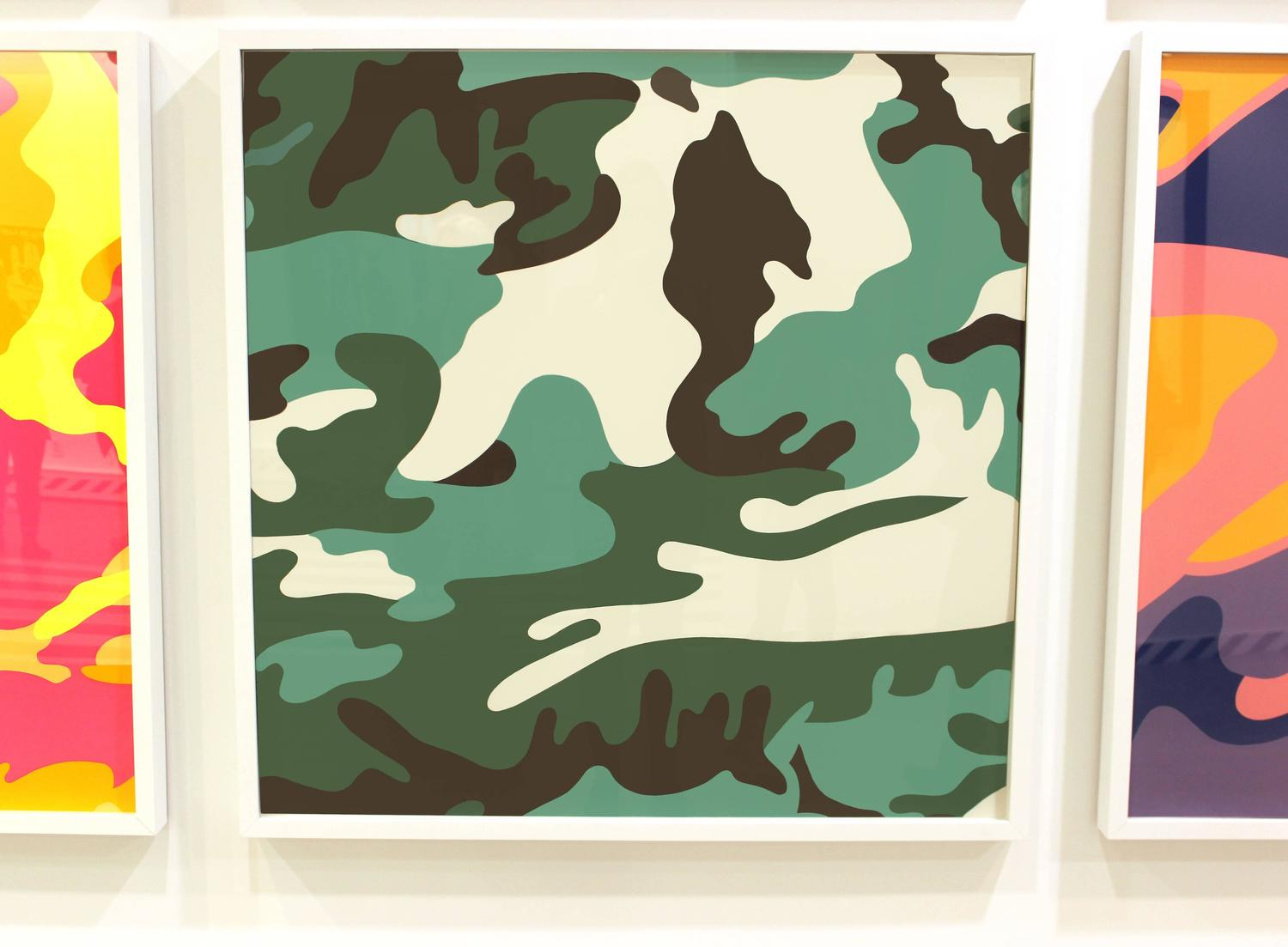 andy warhol camouflage green for sale at 1stdibs. Black Bedroom Furniture Sets. Home Design Ideas