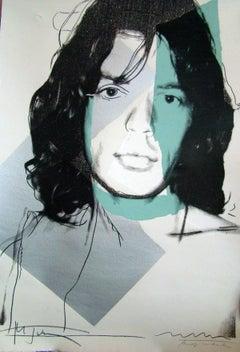 Mick Jagger 138 by Andy Warhol