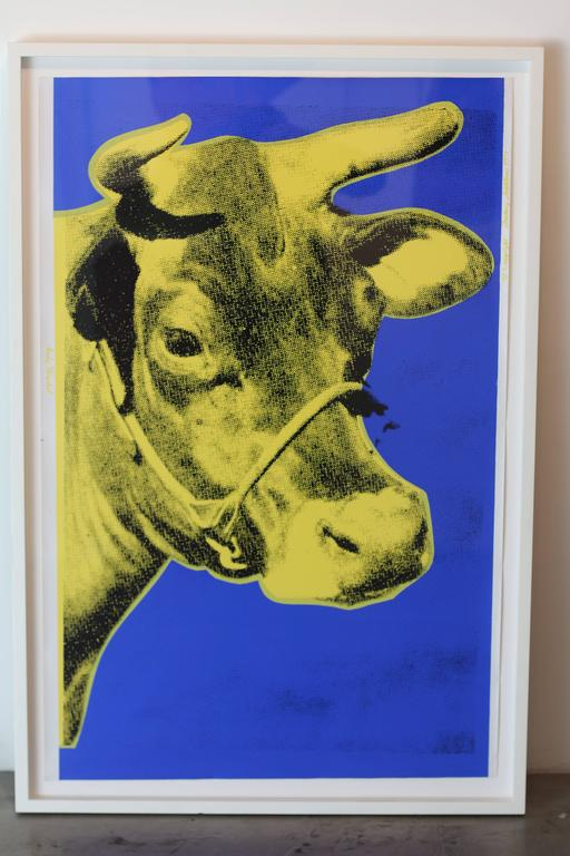 Cow, Blue and Yellow (FS II.12) - Pop Art Print by Andy Warhol