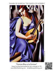 Femme Bleue a la Guitare