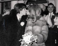 Beatle George Harrison & Pattie Boyd, 1966 Original Vintage Print