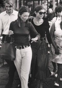 Lee Radziwill & Jackie Kennedy Onassis, Capri, 1970
