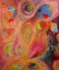 #37 Large composition Pink, Orange