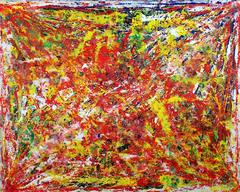 Harry van Gestel - Large composition Untitled, Red, Yellow