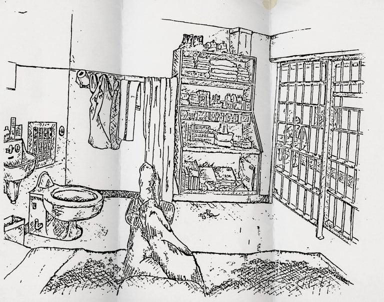 Sketch of a death row cell interior