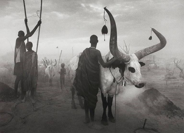 Dinka group at Pagarau, Southern Sudan