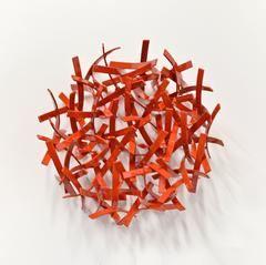 Red Wall Sculpture