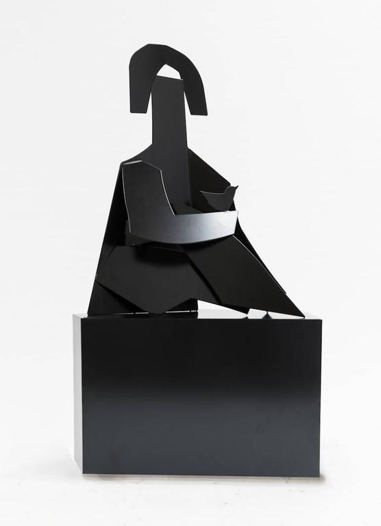America Martin Figurative Sculpture - La Mujer Black Sculpture