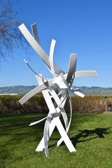 Up, Up and Away - White Sculpture