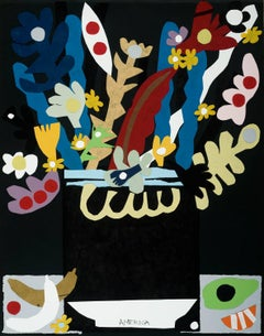 Old Fruit & Flowers, America Martin, Collage Based Still Life