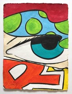 Untitled 33, John CRASH Matos, Street Art Inspired Watercolor, Figurative (Eye)