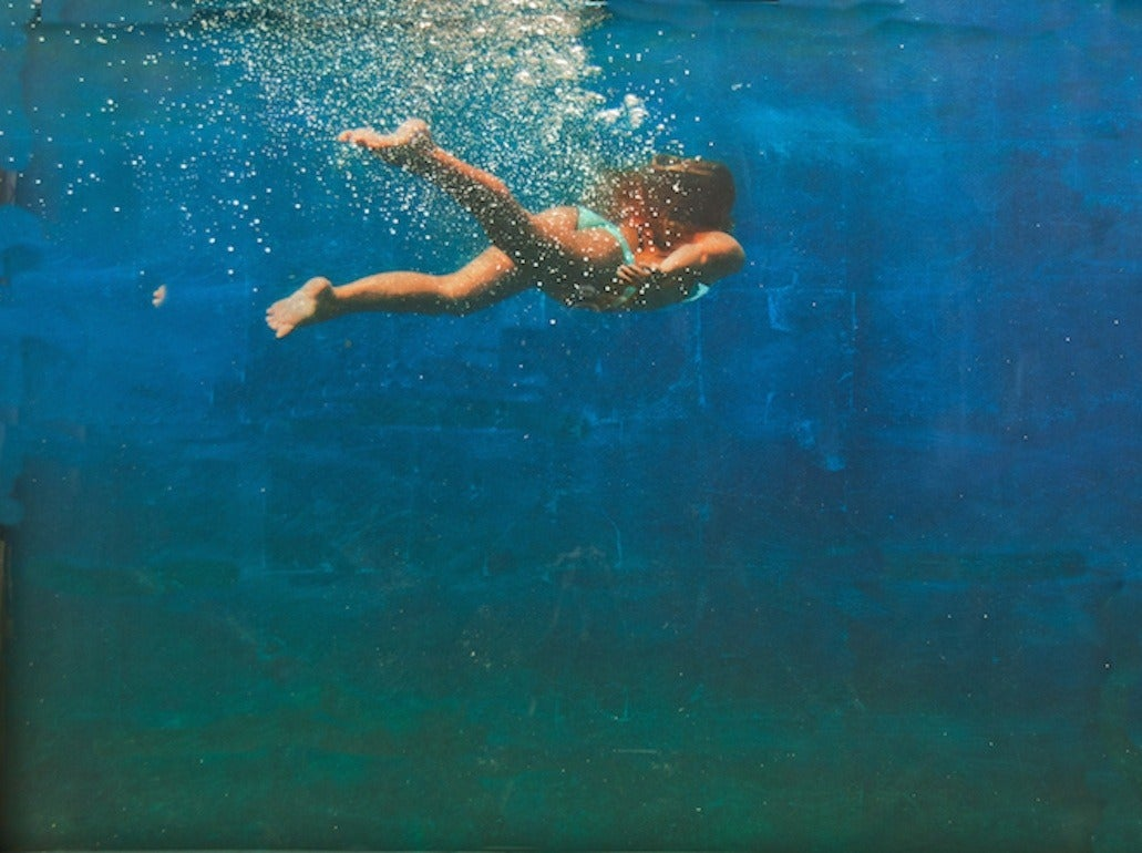 eric zener into the deep blue mixed media at 1stdibs. Black Bedroom Furniture Sets. Home Design Ideas