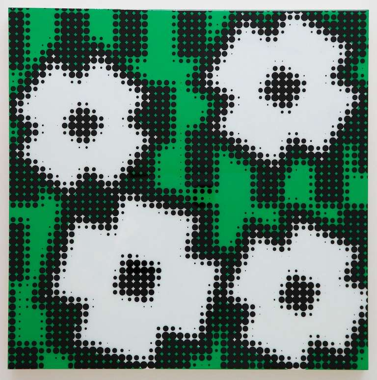 Shinji murakami flowers green and white painting at for Hendrickson s fine jewelry