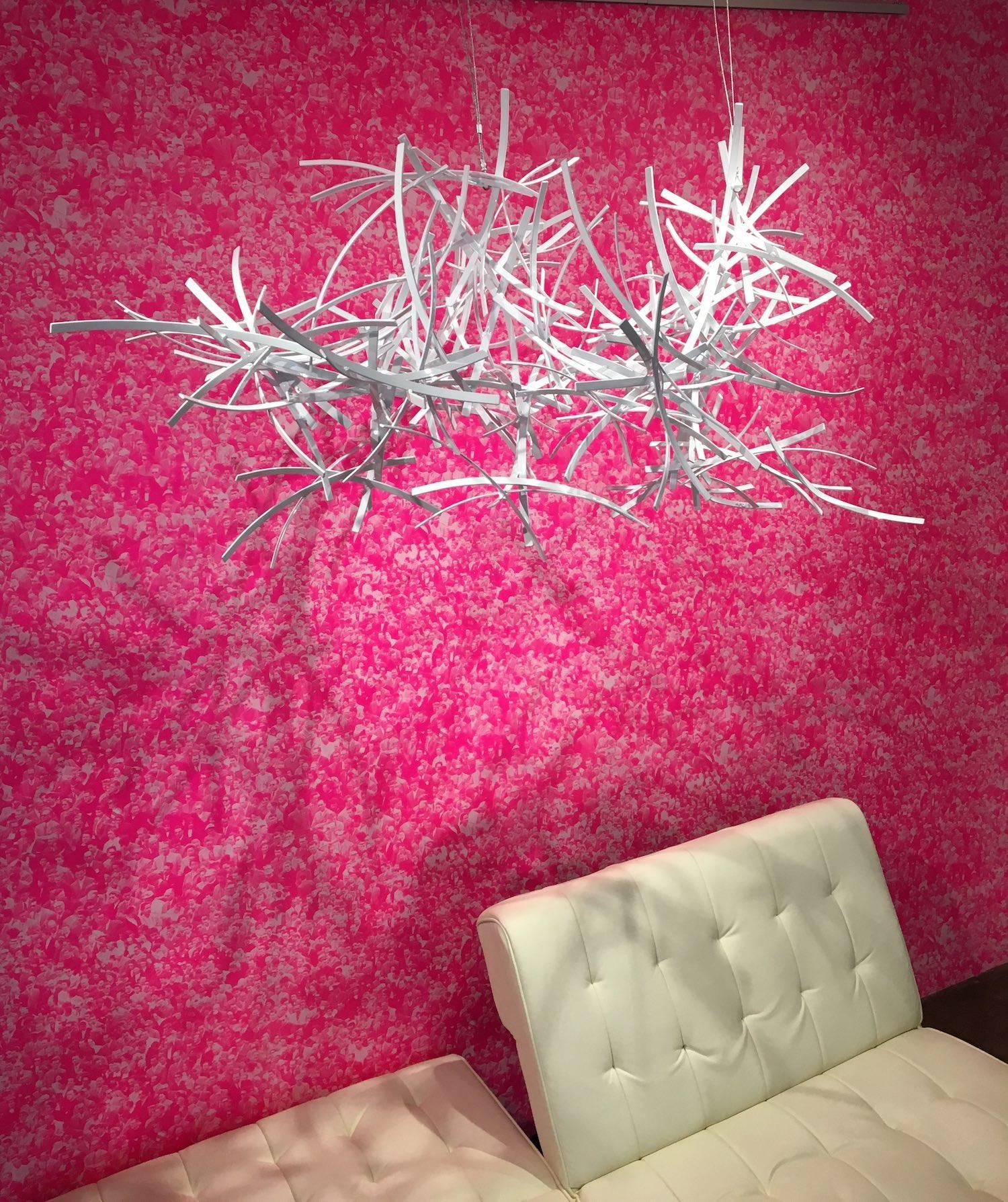 Untitled Suspended, Matt Devine, White Hanging Sculpture, Aluminum Installation