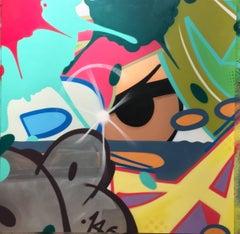 Abracadabra, John CRASH Matos, Graffiti/Street Art, Spray Paint on Canvas