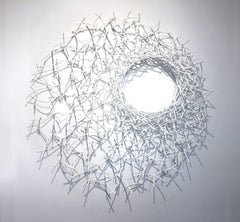 40-12-40 (Abstract White Wall Sculpture)