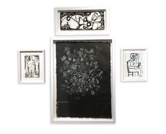 Curated Salon Style Wall - Black and White