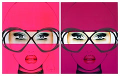 For Your Eyes Only Series Diptych Pink and Purple