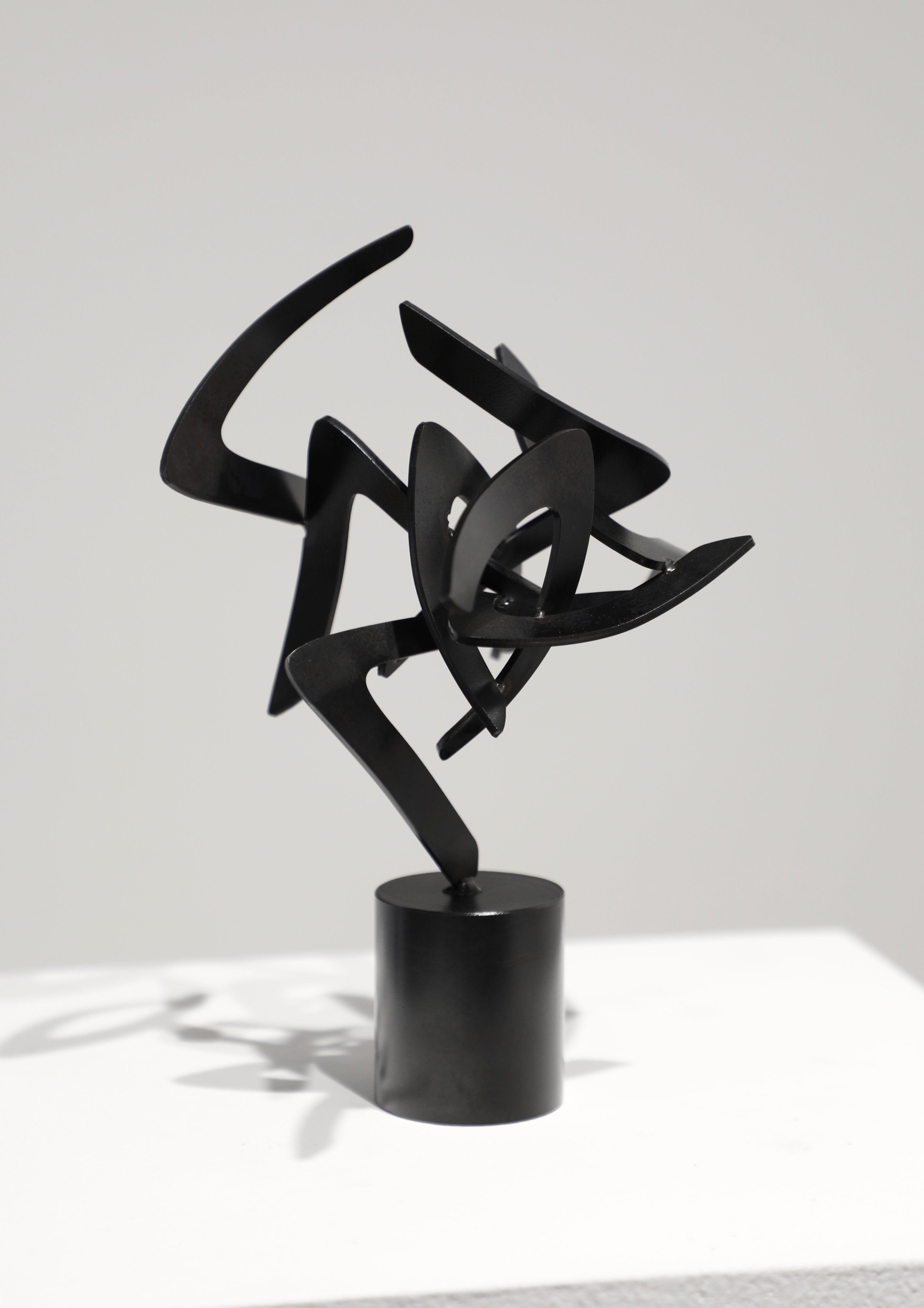 Studio Study 20-1 (Indoor Sculpture), Matt Devine, Steel, Black Patina-abstract