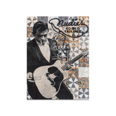 Robert Mars, Mixed Media on Panel, ALL THROUGH A LIFE (Johnny Cash)