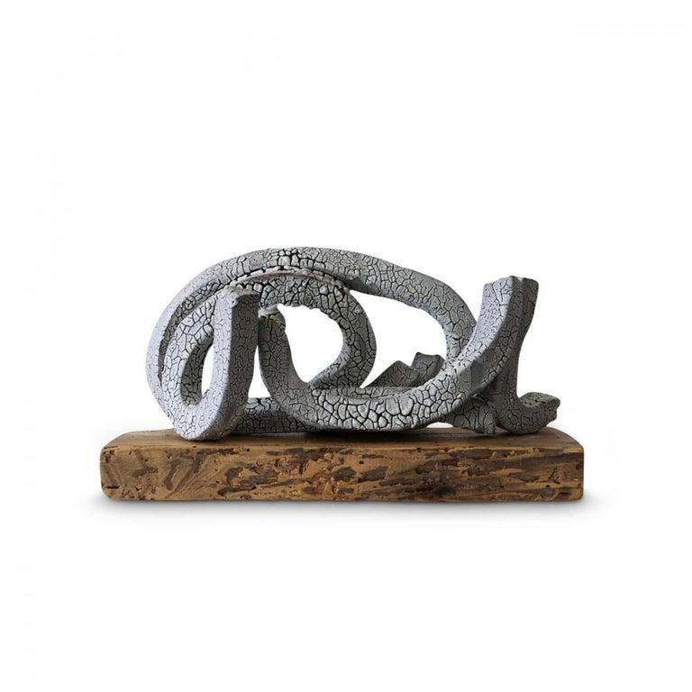 Brandon Reese Abstract Sculpture - Hoop on Birch